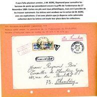 ARDECHE ORDONNANCE / 17 NOVEMBRE 1844 / (Art 30 ET 31) ARDECHE ENV 1971 TOURNON SUR RHONE ET TAXE CHAMBERY SAVOIE => VOI - Marcofilia (sobres)