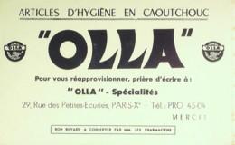 Buvard-OLLA-Caoutchouc Hygiène-275 - Blotters