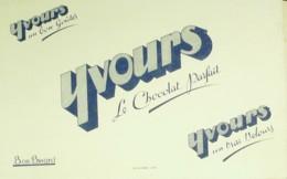 Buvard-YVOURS-Chocolat-350 - Buvards, Protège-cahiers Illustrés