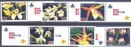 """1996. New Caledonia, Tropical Flowers, Stamp Exhibition """"CAPEX'96"""", 6v, Mint/** - New Caledonia"""