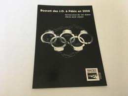 BV - 22 - Boycott Des J.O à PEKIN En 2008 - Olympic Games