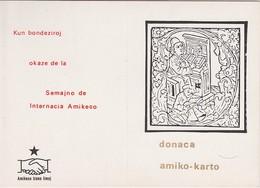 AKEO Prepaid Card - Present For Friendship's Week From The Netherlands - Donackarto Okaze De Semajno De Amikeco - Esperanto