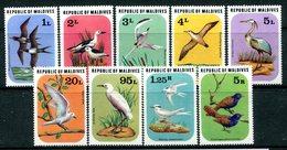 Maldive Islands 1977 Birds Set HM (SG 702-710) - Maldives (1965-...)