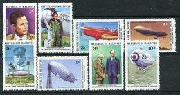 Maldive Islands 1977 50th Anniversary Of Lindbergh's Transatlantic Flight Set HM (SG 712-719) - Maldives (1965-...)