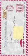 """Enveloppe """"Par Avion"""" Vers La Belgique - Afranchissement Machine - Peru"""