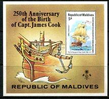 Maldive Islands 1978 250th Birth Anniversary Of Captain Cook MS HM (SG MS769) - Maldives (1965-...)