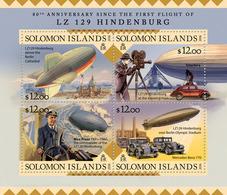 SOLOMON Isl. 2016 - Zeppelin, Berlin Olympics - YT CV=19 €, 3093-6 - Summer 1936: Berlin