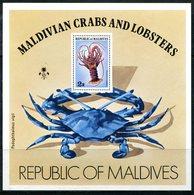 Maldive Islands 1978 Crustaceans MS HM (SG MS777) - Maldives (1965-...)