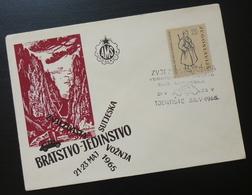 Yugoslavia 1965 Cover Slovenia Croatia Sutjeska Zagreb Drive Automobile Car BB24 - 1931-1941 Kingdom Of Yugoslavia
