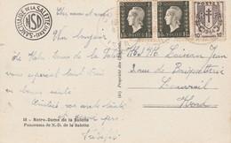 Affranchissement Composé Dulac Chaines Brisées Carte Postale  La Salette Isère Cachet CORPS  à Louvroil Nord - Poststempel (Briefe)