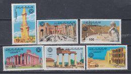 Libye N° 1290 / 95 XX Patrimoine : Architecture Antique Les 6 Valeurs Sans Charnière, TB - Libyen