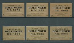 Etiquette CHAMPAGNE Bollinger Millésime RD Lot - Champagne