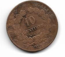"""10 Centimes """"Cérès"""" 1896 A - D. 10 Centimes"""
