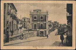 VIZZINI (CATANIA) - VIA ROMA ANIMATA E BELLA 1942 - Catania