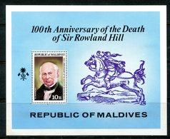 Maldive Islands 1979 Death Centenary Of Sir Rowland Hill MS HM (SG MS811) - Maldives (1965-...)