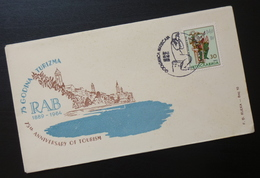 Yugoslavia 1964 Cover Slovenia Croatia 75th Anniversary Of Tourism Rab BB31 - 1931-1941 Kingdom Of Yugoslavia