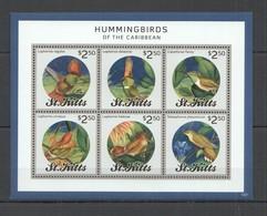 F034 2013 ST. KITTS FLORA & FAUNA BIRDS HUMMINGBIRDS OF THE CARIBBEAN 1KB MNH - Colibris