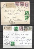 Surcharge E A Lot De 2 Lettres Recommandé Dont Un Devant De Lettre 1962 Constantine , Batna - Algeria (1962-...)