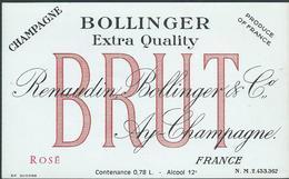 Etiquette CHAMPAGNE Bollinger - Champagne
