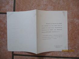 BORDEAUX LE 4 JANVIER 1949 20 RUE ROGER ALLO MADEMOISELLE CHRISTIANE DE COSTE AVEC MONSIEUR MICHEL GUIGNARD - Mariage
