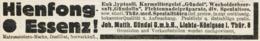 Original-Werbung/ Anzeige 1931 - HIENFONG-ESSENZ / GÜNDEL - LICHTA-KÖNIGSEE - Ca. 115 X 25 Mm - Publicités