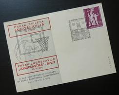 Yugoslavia 1970 Cover Slovenia Croatia World Basketball Championship Sport Split BB38 - 1931-1941 Kingdom Of Yugoslavia