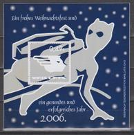 Moderne Privatpost: Mailcats Erfurt 2005. Weihnachten. Marke Mit Schmuckrand. Phantomkatze, Mi 16I - Chats Domestiques