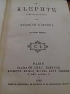 Le Klephte ABRAHAM DREYFUS Calmann Levy 1883 - Theatre