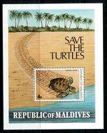 Maldive Islands 1980 Turtle Conservation Campaign MS HM (SG MS859) - Maldives (1965-...)