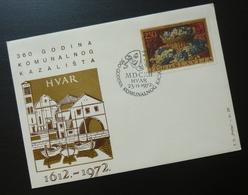 Yugoslavia 1972 Cover Slovenia Croatia Communal Theater Art Hvar BB42 - 1931-1941 Kingdom Of Yugoslavia