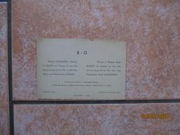 FAVEROLLES BERVILLE LA CAMPAGNE LE 15 OCTOBRE 1946 DENISE GROHANDO AVEC MONSIEUR JEAN BUQUET - Mariage