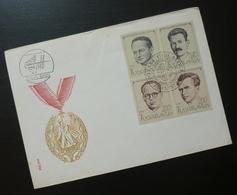 Yugoslavia 1973 Cover Slovenia Croatia National Heroes Orden Medal Wwii BB45 - 1931-1941 Kingdom Of Yugoslavia