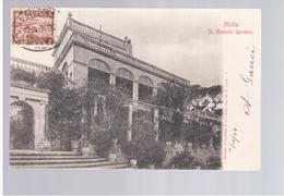 MALTA St Antonio Gardens 1904 Old Postcard - Malta