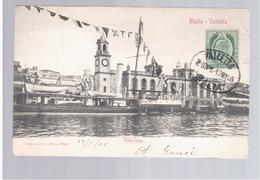 MALTA Valletta Vittoriosa 1905 Old Postcard - Malta