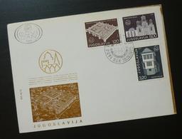 Yugoslavia 1975 Cover Slovenia Croatia Gracanica Monastery Serbia Ohrid Macedonia BB47 - 1931-1941 Kingdom Of Yugoslavia