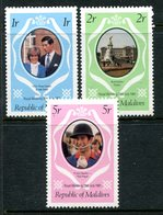 Maldive Islands 1981 Royal Wedding Set HM (SG 918-920) - Maldives (1965-...)