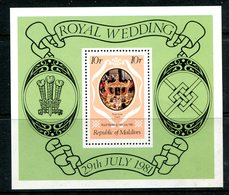 Maldive Islands 1981 Royal Wedding MS HM (SG MS921) - Maldives (1965-...)