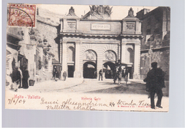 MALTA Valletta Victoria Gate 1904 Old Postcard - Malta