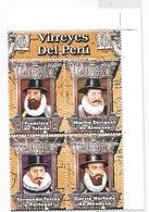 Peru 2006 Viceroys Of Peru Block MNH - Peru