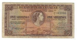 Bermuda, 5 Shillings 1952, F. - Bermuda