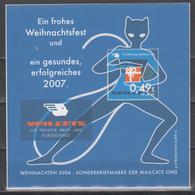 Moderne Privatpost: Mailcats Erfurt 2006. Weihnachten. Phantomkatze Block1 Postfrisch - Chats Domestiques