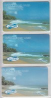 ERITREA GSM PREPAID CARD BEACH 100 NAKFA 3 DIFFERENT CARDS - Eritrea