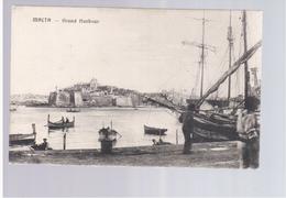 MALTA  Grand Harbour Ca 1920 Old Postcard - Malta