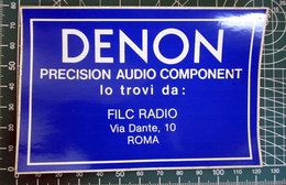 DENON AUDIO COMPONENT ROMA VINTAGE STICKER ADESIVO NEW ORIGINAL - Pegatinas