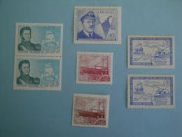 Chili  Bateaux Yv 327 - 359 - 360 - PA236 - PA272 ** MNH  - N° Michel 658 - 687 - 744/5 - 748  Ships - Chile
