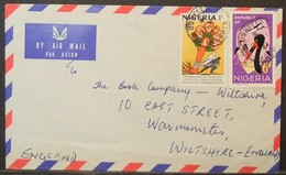 Nigeria - Cover To England 1971 Against Racism Bird Stork Ughelli - Nigeria (1961-...)