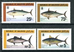 Maldive Islands 1985 Fishermen's Day - Tuna Set HM (SG 1131-1134) - Malediven (1965-...)