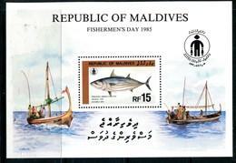 Maldive Islands 1985 Fishermen's Day - Tuna MS HM (SG MS1135) - Malediven (1965-...)
