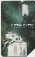 USATA--1730--TELECOM ITALIA-LA NATURA CI CHIAMA-CASCATA DELLE MARMORE - Mountains