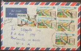 Nigeria - Cover To USA Estate Ship Train Truck - Nigeria (1961-...)
